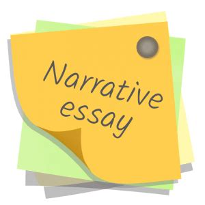 What should the thesis of a narrative include